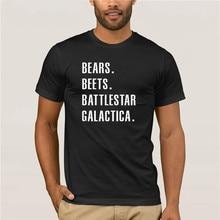 Sport mann der T-shirt Bears Rüben Battlestar Galactica Büro TV Zeigen 100% Baumwolle Crew Neck Casual Tee Schwarz Weiß Brief t-shirt