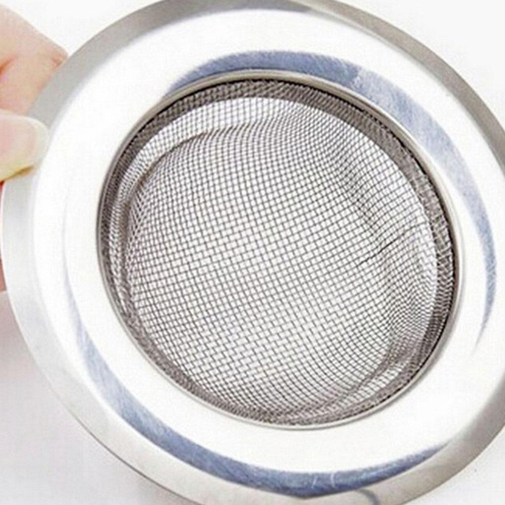 NEW 7.5cm Stainless Steel Kitchen Filter Sinks Strainer Drain Hole Trap Metal Sink Strainer Bath Sink Drain Hair Catcher 2021