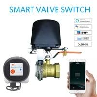 Controleur sans fil Tuya Zigbee WiFi intelligent  controle de leau gaz  domotique  fonctionne avec Alexa et Google Assistant