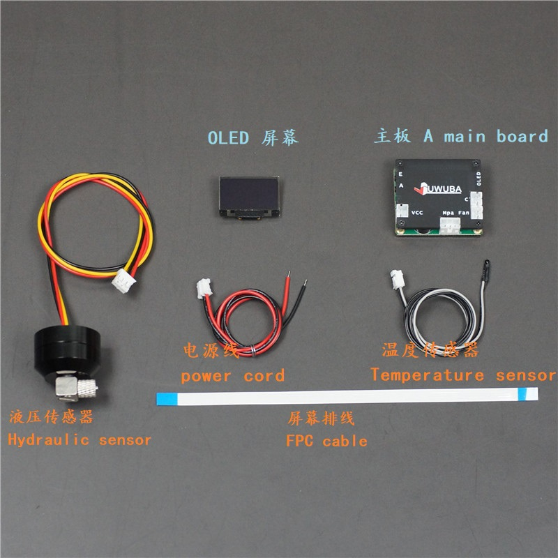 OLED Interior Screen Multi-function Display Voltage Power Temperature for 1/10 RC Crawler TRX4 SCX10 1/14 Tamiya Truck scania enlarge
