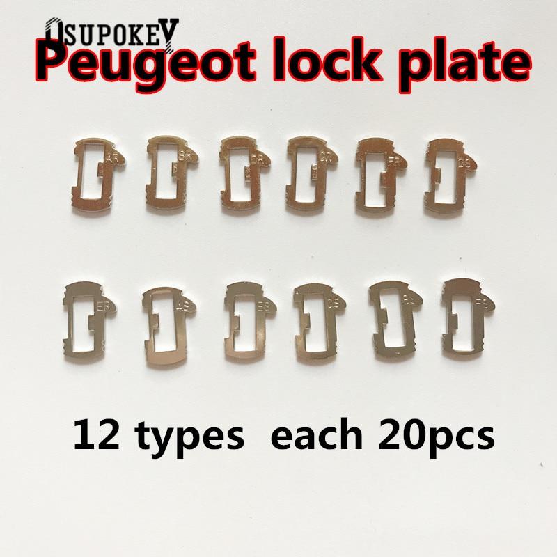 Nuevo 240 unids/lote VA2T lengüeta de bloqueo de coche Placa de bloqueo para Peugeot Citroen Auto Key Lock Accesorios de reparación MATERIAL DE LATÓN + resortes de regalo