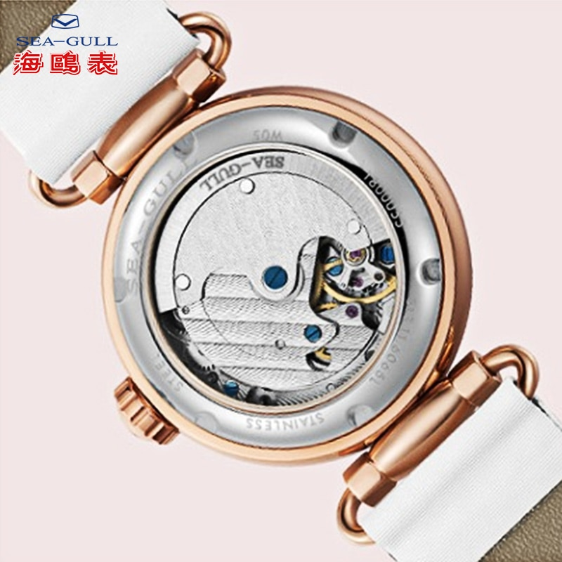 Seagull Ladies Automatic mechanical watch Fashionable female watch Thin and light  mechanical watch Time goddess 813.11.6065L enlarge