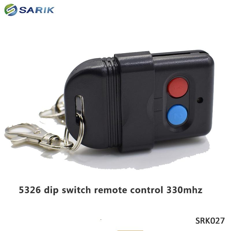 6 adet singapur malezya 5326 330mhz dip anahtarı otomatik kapı teksir uzaktan kumandalı anahtar fob