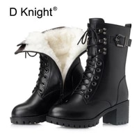 winter women boots shoes lace up zip motorcycle women snow boots big size hot platform boot female warm botas mujer 2020 booties