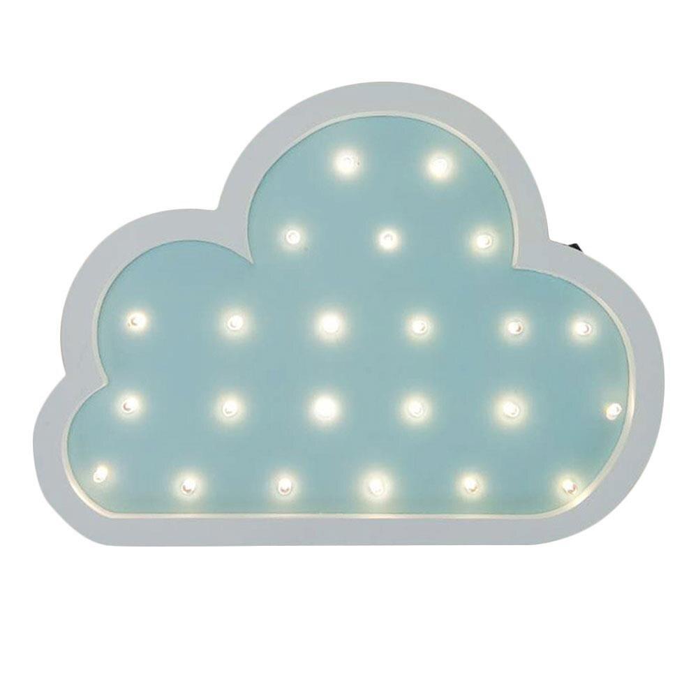 LED Cartoon Clouds Shape Wall Lamp Modeling Light Festival Home Decorative