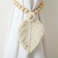 handmade macrame curtain tiebacks cotton weave curtains tieback straps tassels hanging ball home decoration