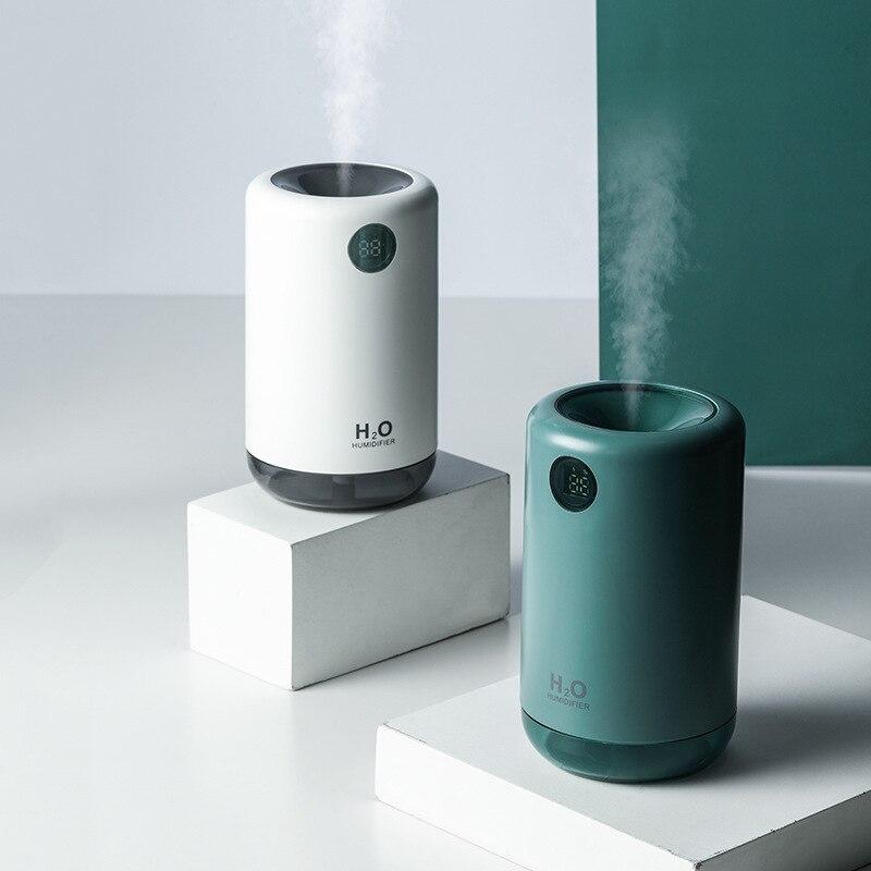 مرطب USB صغير ، 500 مللي ، صامت ، مع ضوء ليلي ملون ، علاج عطري ، لمكيف الهواء المنزلي ، السيارة ، الترطيب