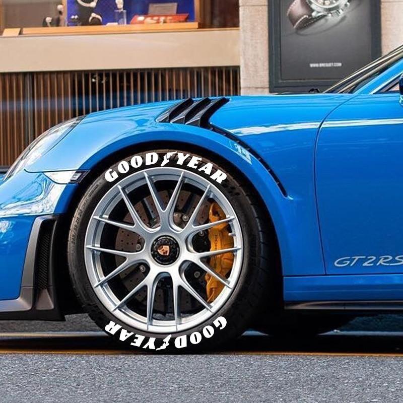 3D-наклейки на автомобильные шины с надписью GOODYEAR, наклейки на автомобильные и мотоциклетные шины, модифицированные украшения для колес