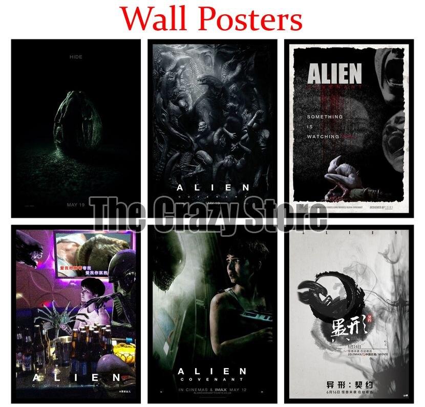 Alien Covenant, Papel Kraft Blanco clásico, pintura, impresión artística de película, póster, imagen de pared para decoración del hogar, 42x30cm