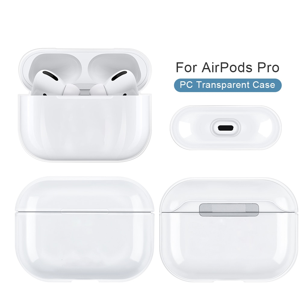 AliExpress - Clear Hard PC Funda For Airpods Pro Case TWS Bluetooth Earphones Skin-Friendly Protective Cover For Airpods 2 Air pods 4 1 Capa