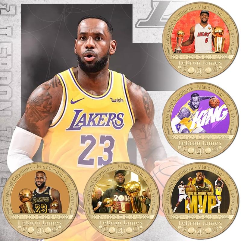 Памятная монета Джеймс баскетбольная звезда медаль Коллекционная монета металлическая монета значок подарок сувенирные монеты