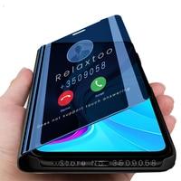 Чехол для readmi 9c nfc, умные зеркальные флип-чехлы для телефонов xiaomi redmi 9c nfs 9a 9t 9 c a t redmi9c redmi9a, магнитный чехол-подставка