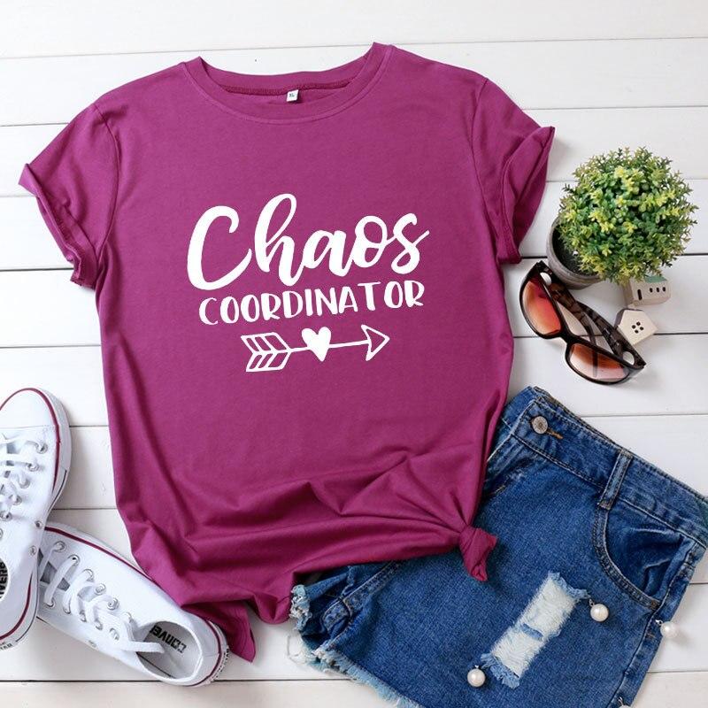Moda damska koszulka 100% bawełny z krótkim rękawem 2020 nowy dorywczo koordynator chaosu O-Neck T Shirt trójnik żeński panie modne bluzki