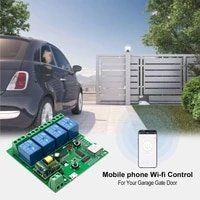 eWeLink wifi switch DC 5V 12v 24v 32v AC 220V Inching Self-Locking wireless Relay module Smart home Automation for Door access