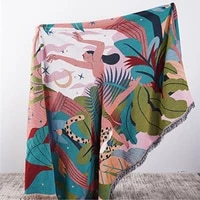 thathome throw blanket multifunction 2 sided sofa covers tassel dust cover air conditioning blankets for bed picnic blanket