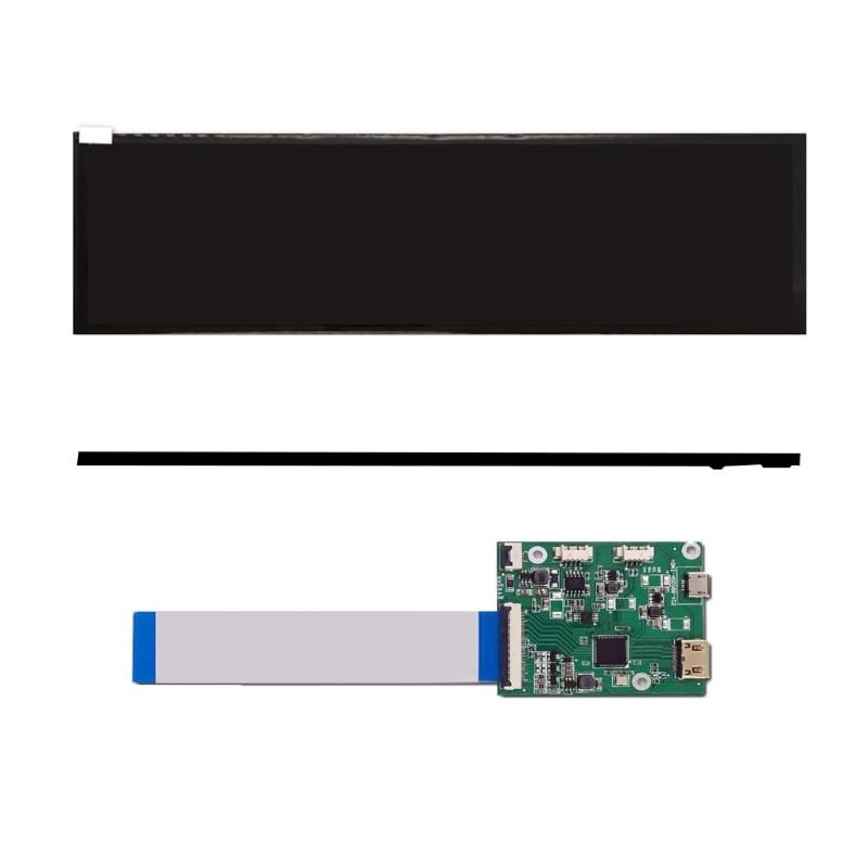 1920 × 480 شاشة لد مع هدمي HSD088IPW1 الصوت وحدة تحكم بشاشة إل سي دي كومبابيبل على نطاق واسع الكمبيوتر إيبس الألعاب أجهزة الكمبيوتر