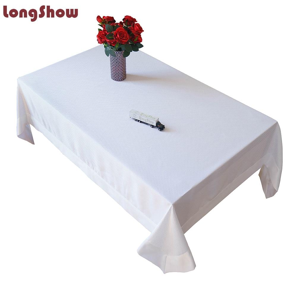 مفرش طاولة مبيض عتيق ، غطاء جاكار حديث لطاولة القهوة ، أبيض ، مقاس كبير من 3 إلى 5 أمتار ، ديكور منزلي