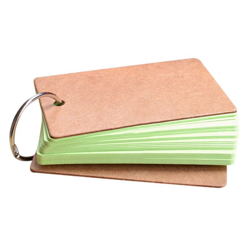 Hebilla portátil carpeta Notas tarjetas Flash Bloc de notas DIY tarjeta en blanco papelería JR ofertas