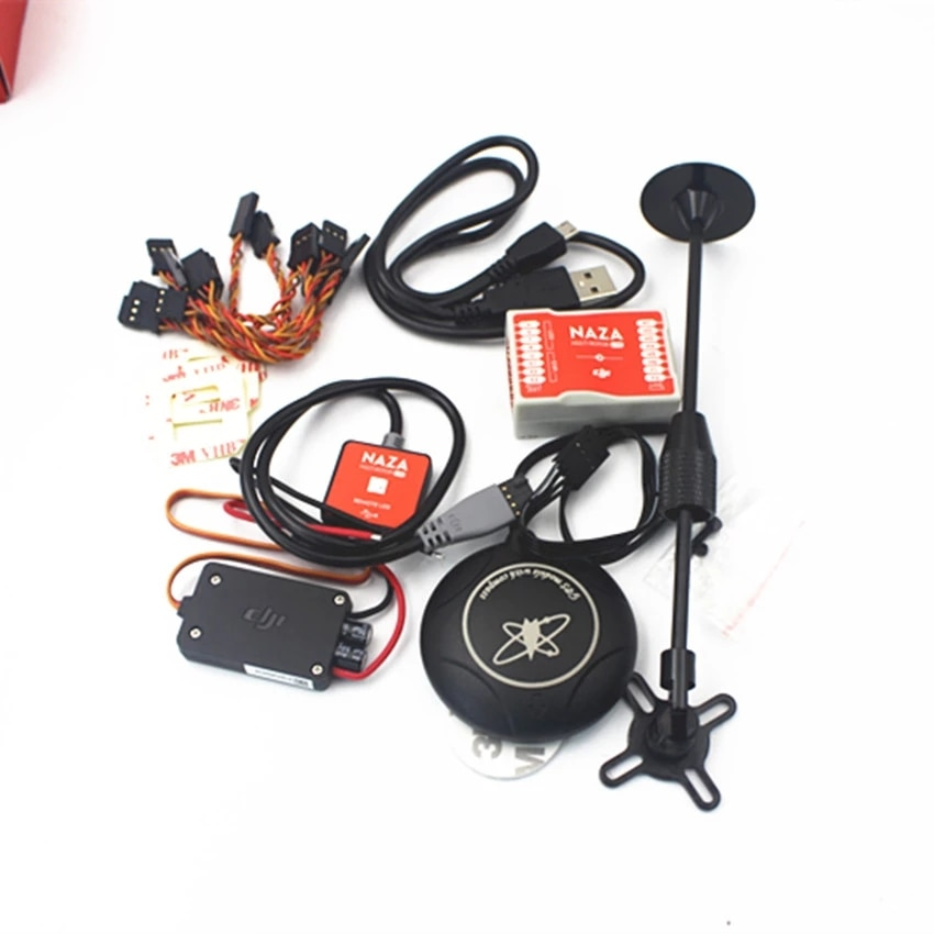 DJI Naza M Lite Multi Flyer Version Flight Control Controller w/ PMU Power Module  LED &Cables & M8N GPS & stand holder in stock 1pcs pm20csj060 module using intelligent power modules in stock new