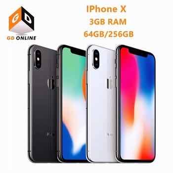 "Apple iPhone X RAM 3GB ROM 64/256GB Face ID 4G LTE 5.8"" A11 Bionic Hexa Core Full Screen Smartphone Original Unlocked Cell Phone"