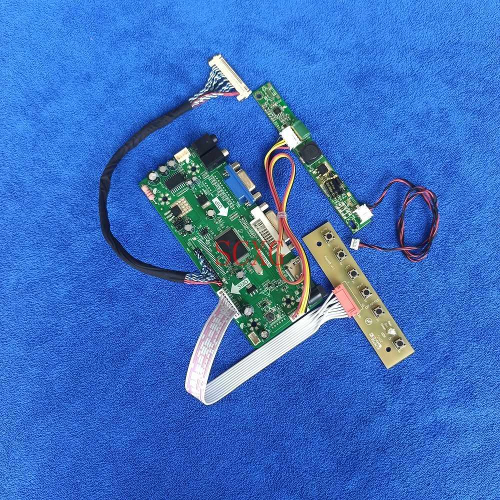 HDMI متوافق VGA DVI مصفوفة ل M185XTN01.0/M185XTN01.1 لتقوم بها بنفسك عدة MNT68676 محرك تحكم مجلس LCD/LED LVDS 30 دبوس 1366*768