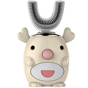 Smart 360 Degrees U Shaped Electric Toothbrush Kids Silicon Automatic Ultrasonic Teeth Tooth Brush Cartoon Pattern