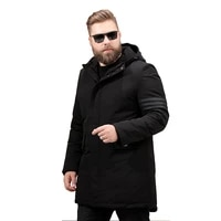 men long thickening winter cotton padded jacket big yards fatty hooded cotton padded coat 6xl 7xl 8xl