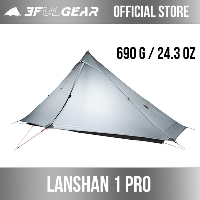 3F UL GEAR Lanshan 1 pro tienda oficial al aire libre 1 persona tienda de campaña ultraligera 3 temporada profesional 20D Silnylon inalámbrico