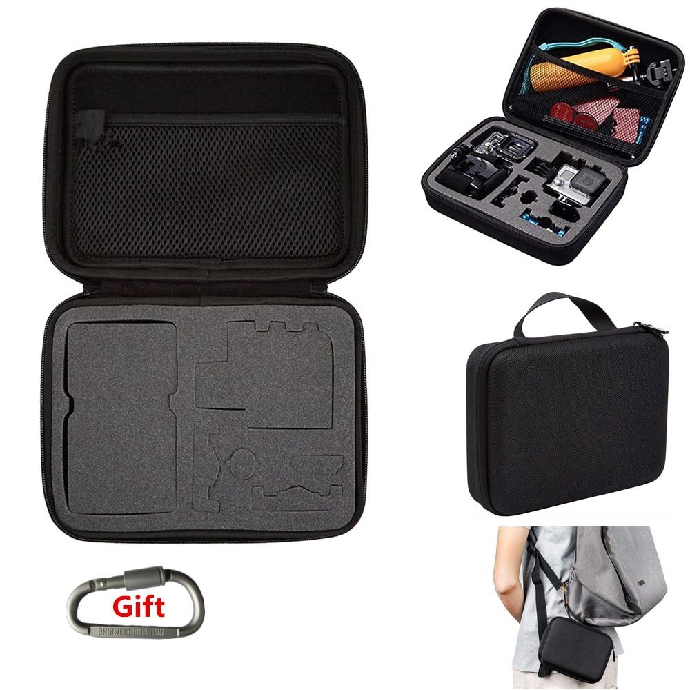 Action Camera Carrying Case Protective Bag for Gopro Hero 8 7 6 5 4 for XiaomiYI DJI ENEK SJ Camera Accessories Mounts Box