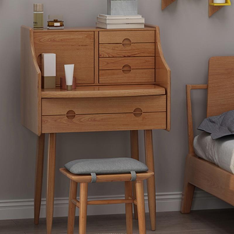 Скандинавский цельнодеревянный туалетный столик для маленькой квартиры, спальни, прикроватный туалетный столик, японский туалетный столи...