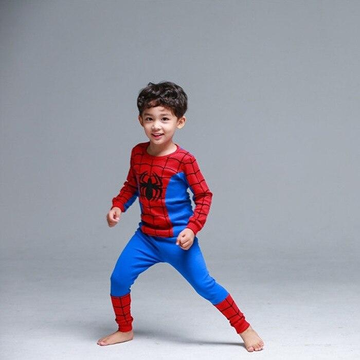 Pijamas para niños nuevo otoño ropa de dormir para niños ropa de dormir ropa de bebé pijama de dibujos animados Spider-man conjunto de pijamas de algodón para niños 2-9Y