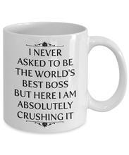 Nunca dije ser el mejor jefe del mundo, pero aquí estoy absolutamente triturando su taza, 11 oz cerámica taza blanca de café única