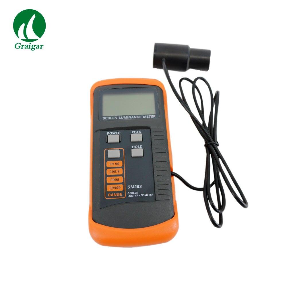 SM208 شاشة الإنارة متر سطوع الشاشة متر قياس المدى 0.01-39990cd/m2