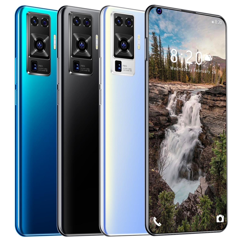 هاتف ذكي X50 Pro بشاشة 512G 7.2 بوصة كبيرة ومزود ببطاقة مزدوجة الاستعداد وبطارية 6800mAh عالمي للاتصال بذاكرة كبيرة