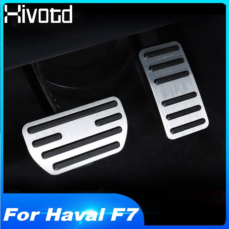 Hivotd For Haval F7 F7X car accelerator pedal oil footrest modified pad brake treadle decorative interior accessories 2019 2020