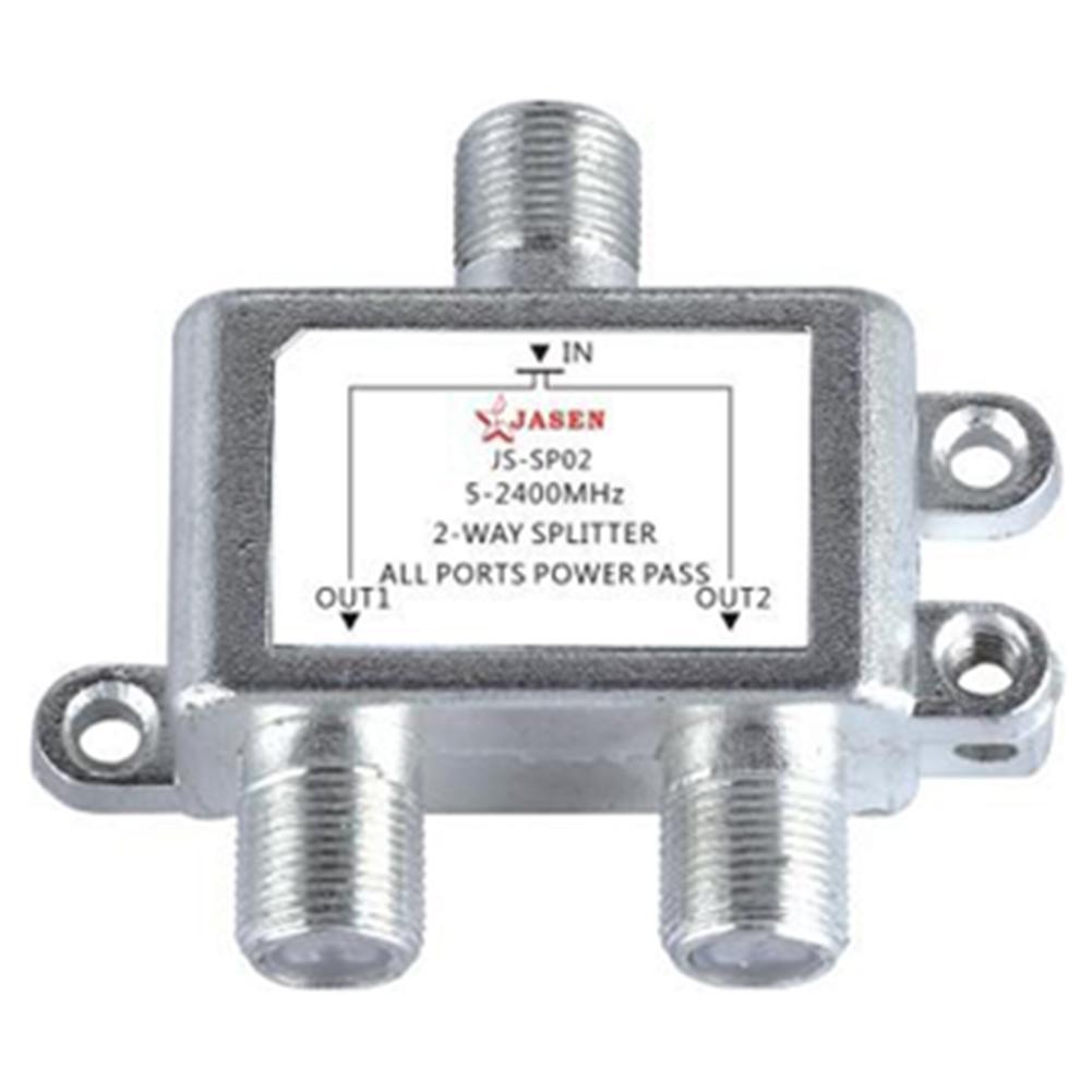 Interruptor de cabo duplo 2 em 1, cabo conversor de entrada dupla via satélite tv comutador