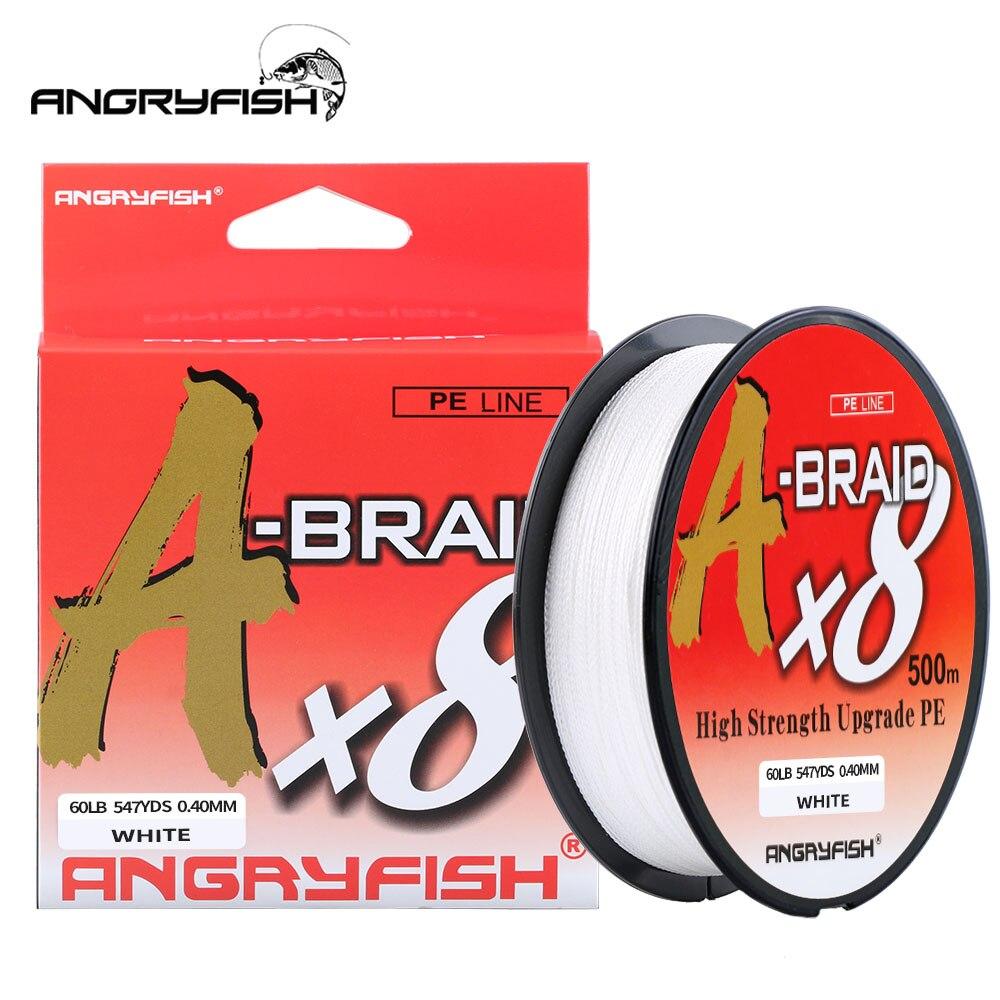Angryfish A-Braid X8 рыболовная леска 527YDS/500M 8 нитей плетеная леска мультифиламентная PE леска 8 плетений прочная плетеная леска