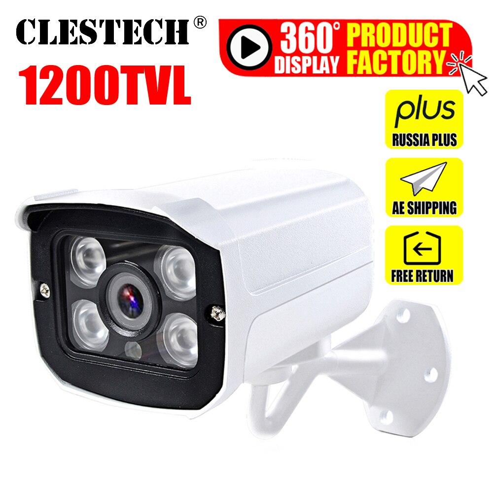 1200TVL المعادن 1/3cmos cctv كاميرا للماء IP66 في الهواء الطلق الأمن IR-CUT 4led صفيف الأشعة تحت الحمراء 30m للرؤية الليلية الأمن vidicon