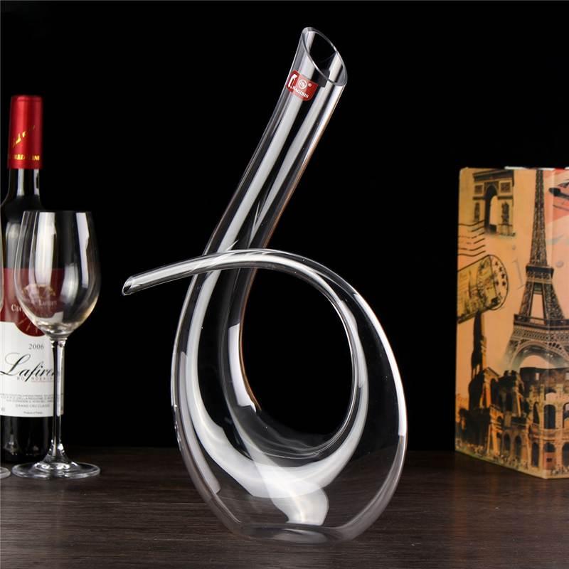 Jarra hecha a mano en forma de 6 de 1200 ML, cristal, Copas de champán, botella, aireador, aireador, decoración de Bar, regalo