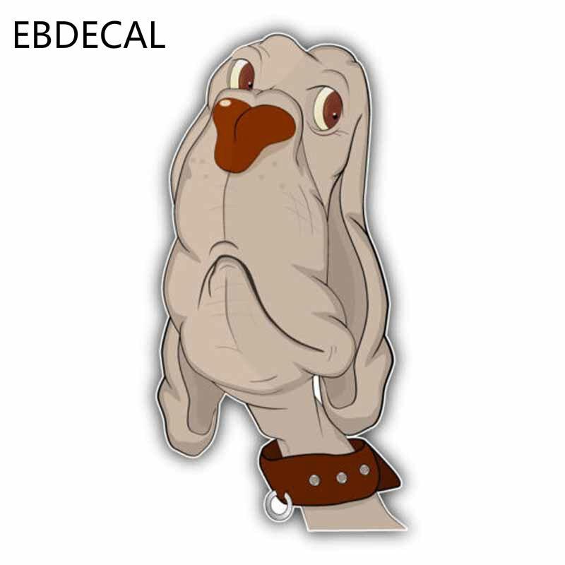 Pegatina de perro sabueso EBdecal para Auto coche/Parachoques/ventana/pegatina de pared calcomanías DIY decoración CT5359