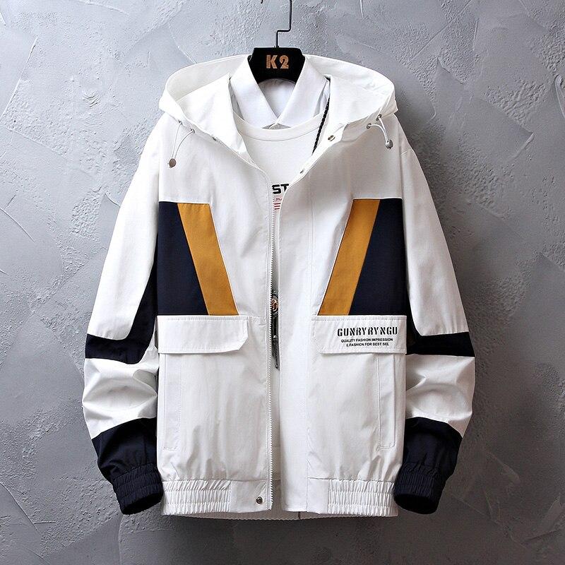 Мужская осенняя куртка с капюшоном, Повседневная Уличная куртка на молнии, мужская верхняя одежда, ветровка, верхняя одежда, 2021