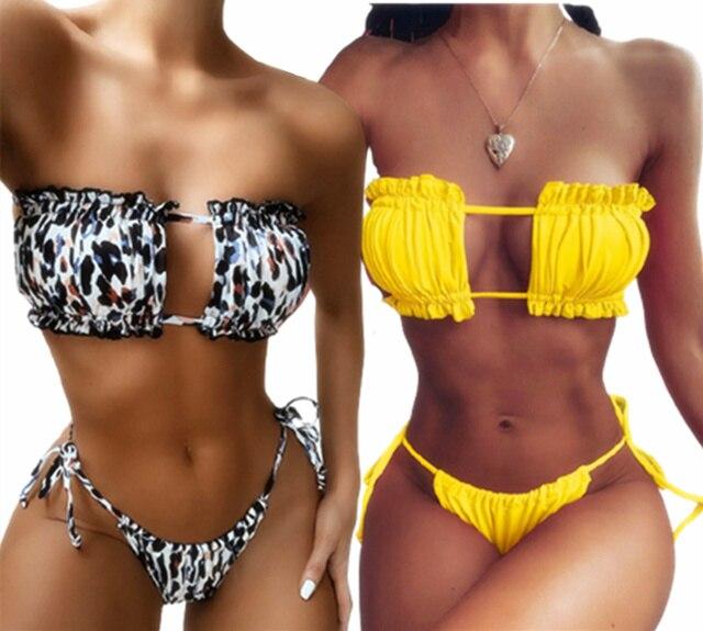 Leopard Bikinis Set For Women Swimsuit Summer Beach Wear Brazilian Biquinis Feamle Bathing Suits 2021 Sexy Women Bikini Swimwear 10