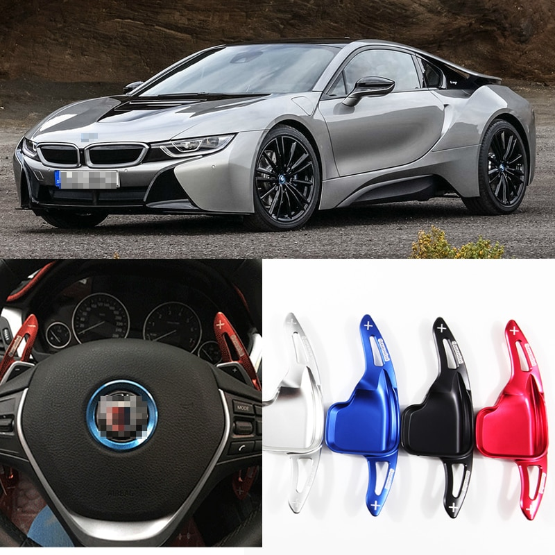 Tommia 2 uds volante de aluminio palanquitas de cambio de marchas extensión para BMW I8 16-18 Car-styling