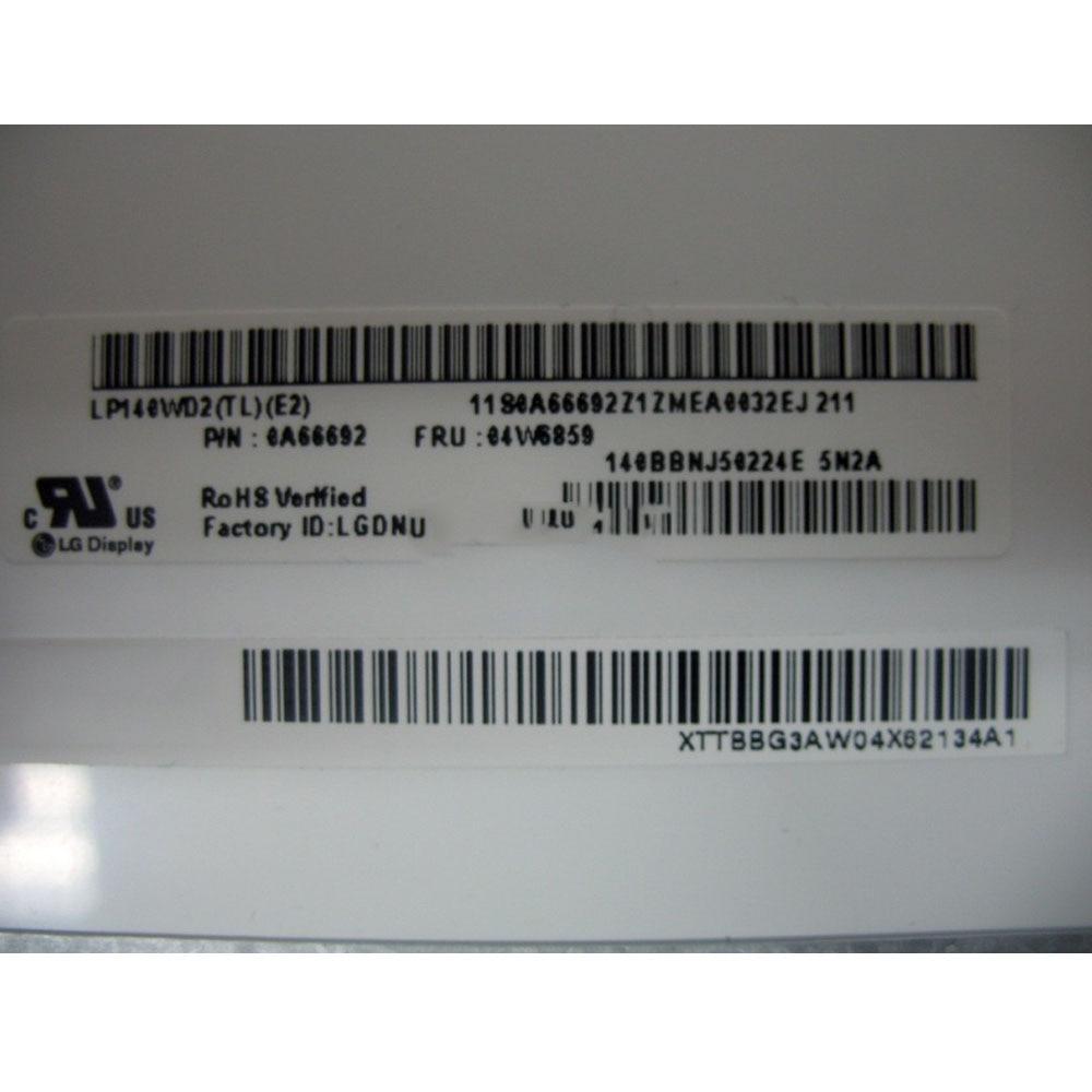 Original para Lenovo Thinkpad X1 Carbon laptop lcd pantalla led LP140WD2-TLE2 ip140wd2 (TL) (E2) 1600*900 matriz de pantalla nueva probada