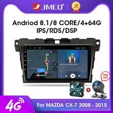 JMCQ 2DIN Android 8.1 4G + WiFi autoradio lecteur multimédia DSP pour MAZDA CX-7 cx7 cx 7 2008-2015 Navigation GPS 2 DIN pour BOSE