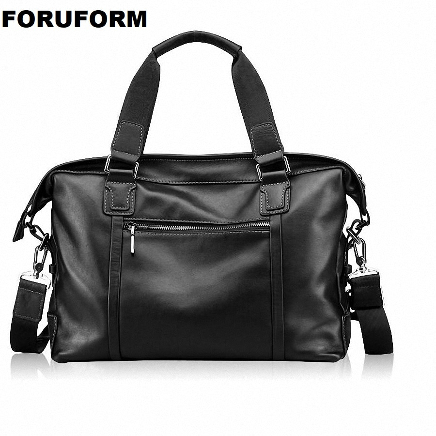 Men's Genuine Leather Bag Briefcase Office Bags For Men Leather Laptop Bag Shoulder Bags Fashion Male Luxury Handbag ZH-171