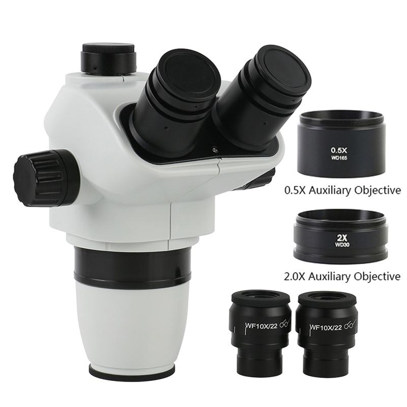3.35X 6.7X 45X 90X سيمول-البؤري ثلاثي العينيات ستيريو مجهر تكبير الرأس مع فوكوسابل WF10X/22 مللي متر مجال واسع العيون