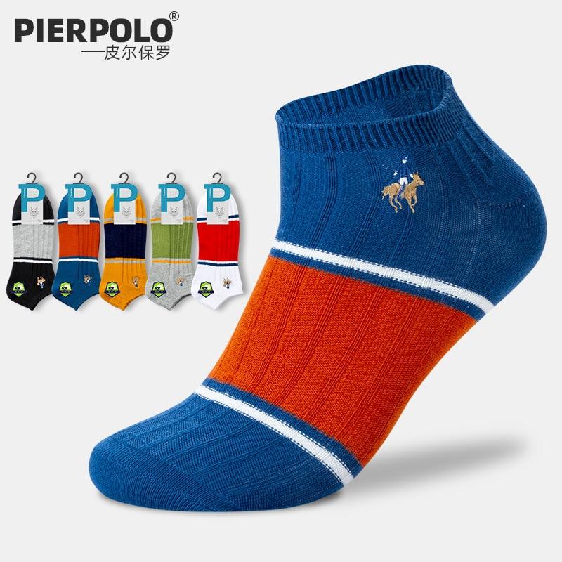 Nuevos calcetines de algodón para hombre de negocios de la marca Pier Polo, medias respirables al tobillo, calcetines deportivos para hombre, tallas 39-44, colores mezclados, venta al por mayor