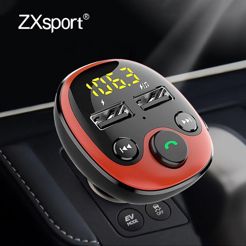 FM Transmitter Car Bluetooth 5.0 FM Radio Modulator Car Kit 3.1A USB Car Charger Handsfree Audio MP3 Player For Peugeot 407 206
