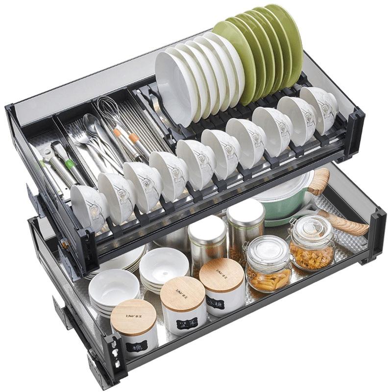 Organizador de acero inoxidable Para Armario de Cocina, cesta Para Armario de...